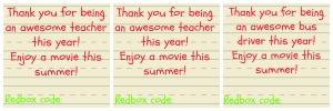 TeacherBus Driver Redbox Gift