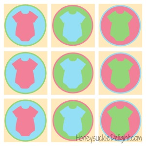 Gender Reveal Onesie Cupcake Topper HD