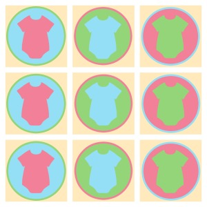 Gender Reveal Outfit Cupcake Topper