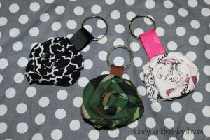 Fabric Flower Keychain